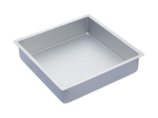 MasterClass: Silver Anodised Square Deep Cake Pan (30.5cm)