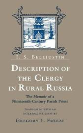 Description of the Clergy in Rural Russia by I.S. Belliustin