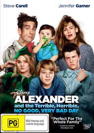 Alexander And The Terrible, Horrible, No Good, Very Bad Day on DVD