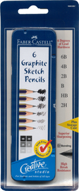 Faber-Castell: Creative Studio Graphite Pencils (Tin of 6) image