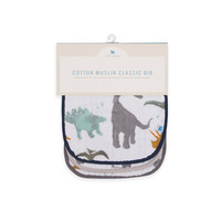 Little Unicorn - Muslin Classic Bib - Dino Friends (3 Pack) image