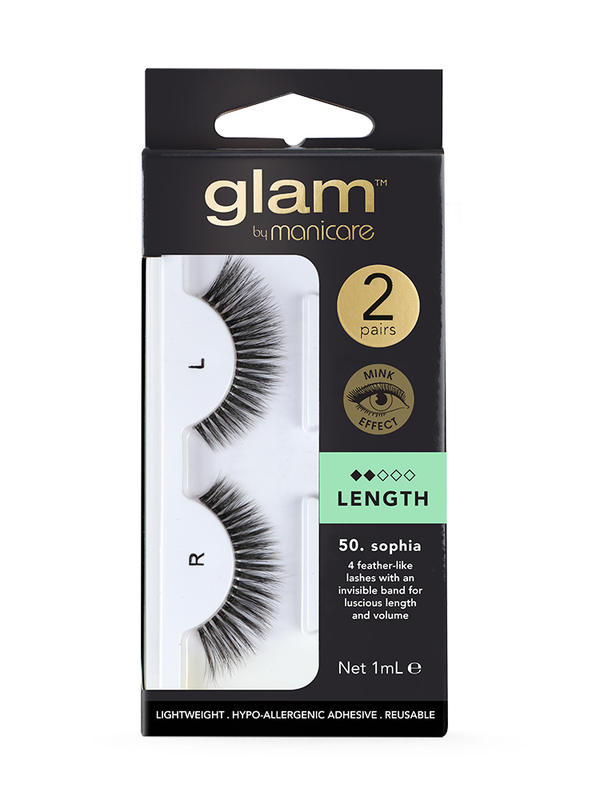 Glam by Manicare: Length Mink Effect Lashes - Sophia (2 Pack)