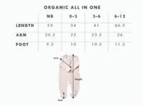 Babu: Organic Cotton All in One with Feet - Coastal Blue (6-12m) image