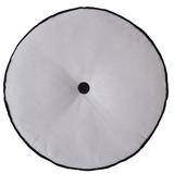 Bambury Spot Round Filled Cushion (Silver)