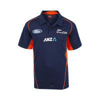 NZ Blackcaps Replica Training Polo - Medieval Blue (Large)