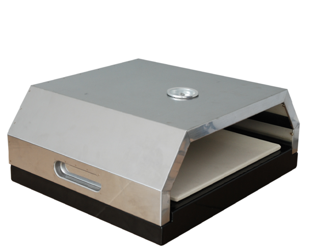 Stainless Steel BBQ Pizza Oven - With Pizza Stone