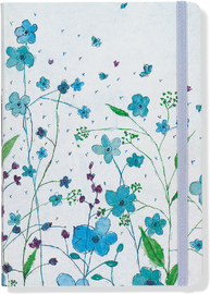 Blue Flowers Journal (Small)
