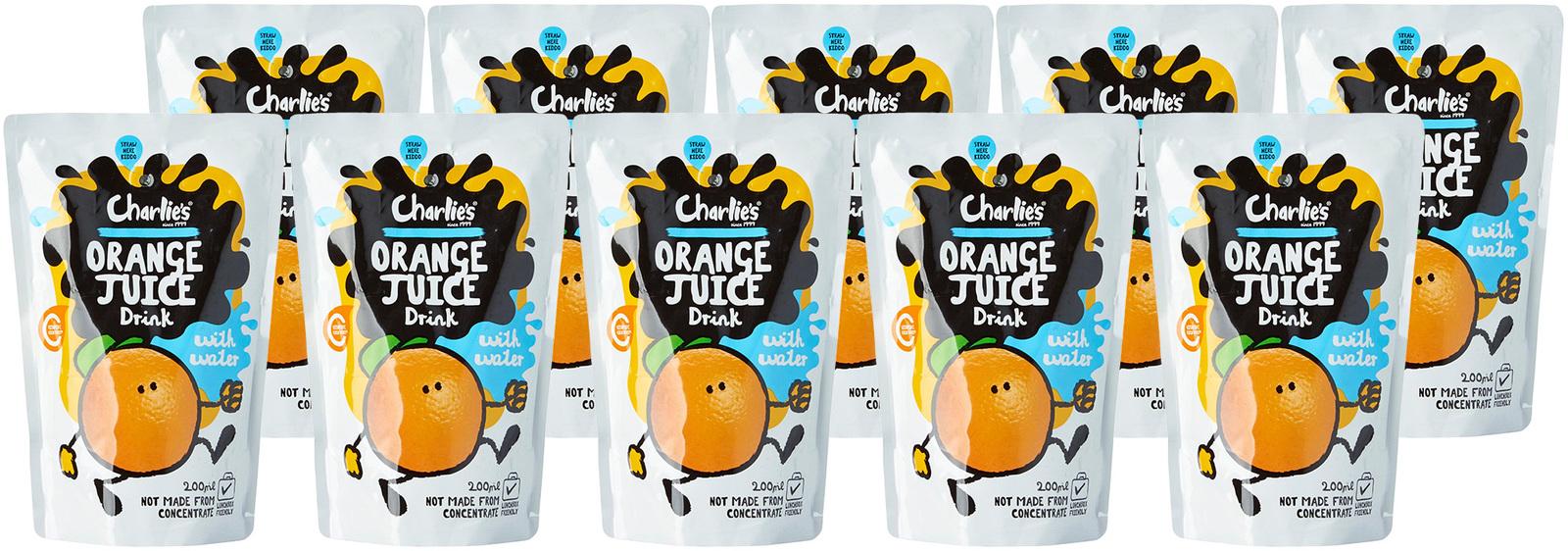 Charlie's Kid's Juices Orange 200ml 10pk image