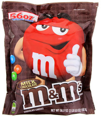 M&M's Milk Chocolate SUP XXL Bag (1.58kg)