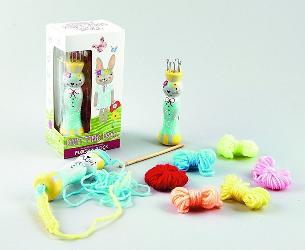 Bunny Knitting Doll Craft Kit Toy At Mighty Ape Australia