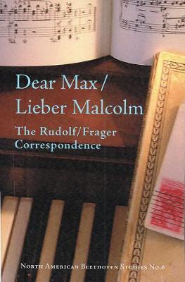 Dear Max/Lieber Malcolm by Max Rudolf