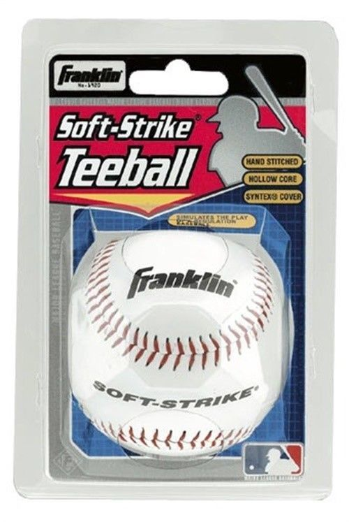 "MLB 9"" Soft Strike Tee Ball (White)"