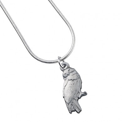 Harry Potter Pendant & Necklace - Hedwig the Owl (silver plated)