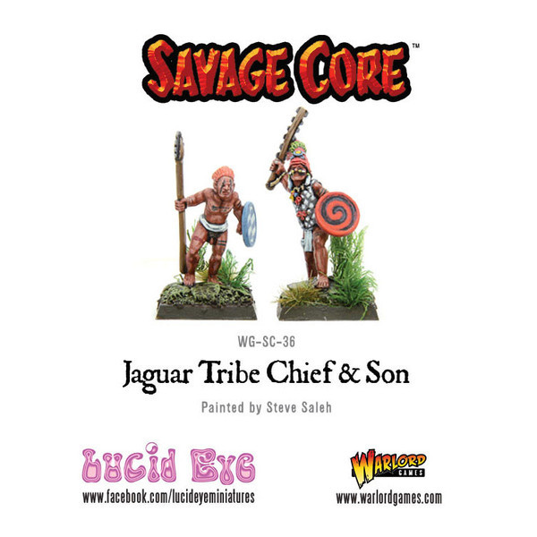 Savage Core: Jaguar Tribe Chief & Son (2 figs)