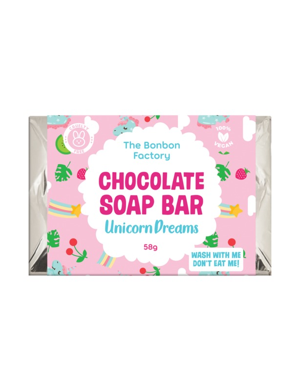 The Bonbon Factory Choc Soap Bar Slab - Unicorn Dreams
