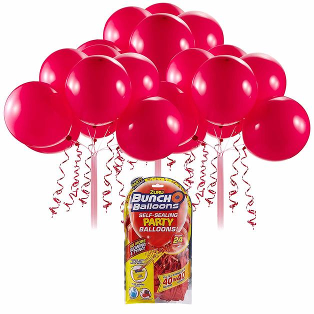 Bunch O' Balloons: Self Sealing Party Balloons - (24 x Red)