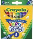 8 Washable Large Crayons - Crayola
