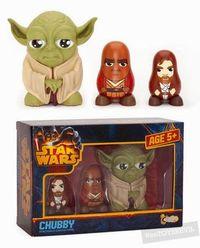 Star Wars: Chubby Series 1 - Yoda, Mace Windu, Obi-Wan Ken Obi