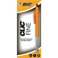 Bic: Clic Fine Tip Ballpoint Pens - Black (Box of 10)