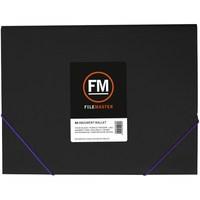 FM A4 Vivid Document Wallet - Black