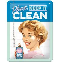 Nostalgic Art: Tin Sign - Keep It Clean