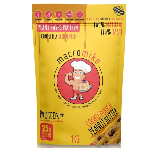 Macro Mike Plant Protein Powder - Cookie Dough (1kg)