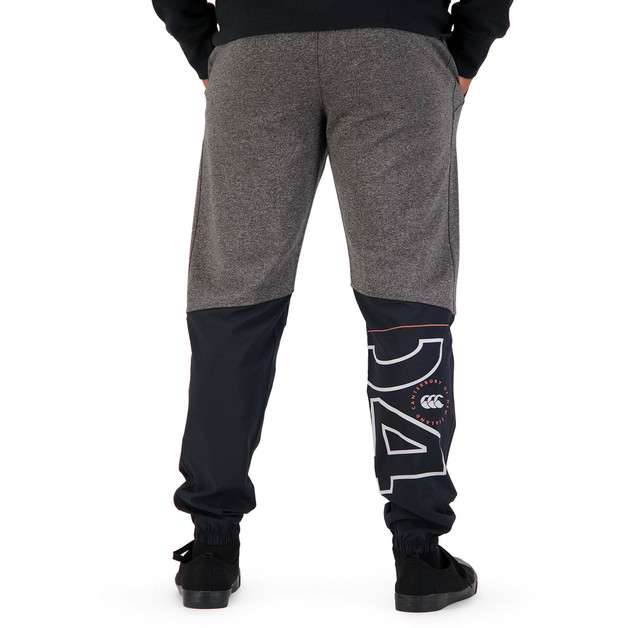Canterbury: Mens Hybrid Cuffed Tapered Pant - Black Grey Marl (XL)