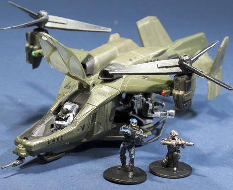 Halo Micro Ops Series 1 Mini Figure Set - Ghost vs Wolf