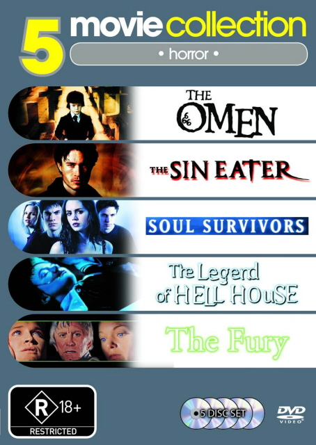 Sin Eater / Soul Survivors / The Fury / The Legend Of Hell House / The Omen (5 Disc Set) on DVD image