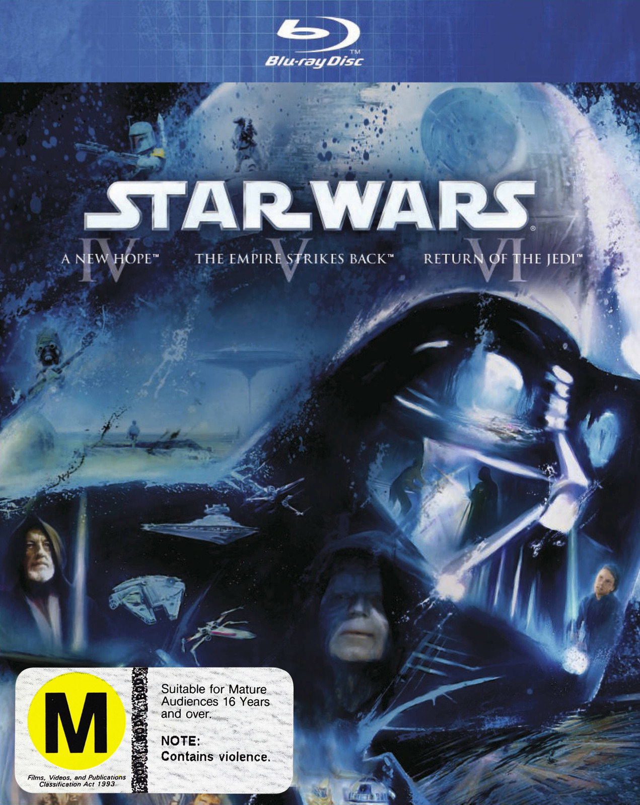 Star Wars IV, V, VI (Original Trilogy) on Blu-ray image