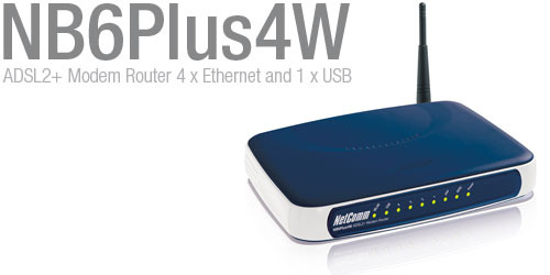 Netcomm NETCOMM ADSL2+ MODEM/ROUTER 4-PRT WIRELESS image