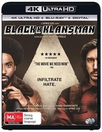 Blackkklansman on UHD Blu-ray
