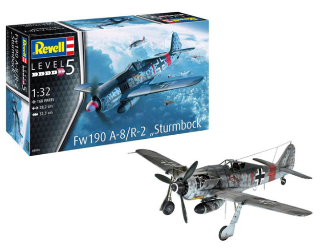 Revell: Fw190 A-8/R-2 Sturmbock - 1:32 Scale Model Kit
