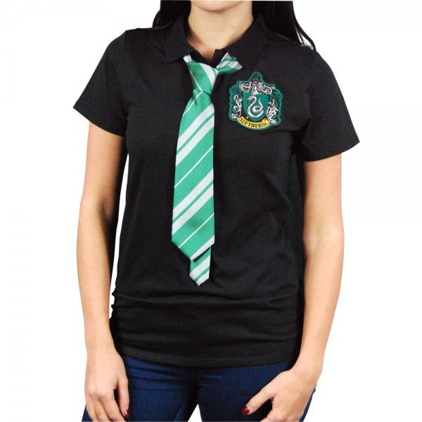 Harry Potter Slytherin Caped Polo Shirt (Medium)