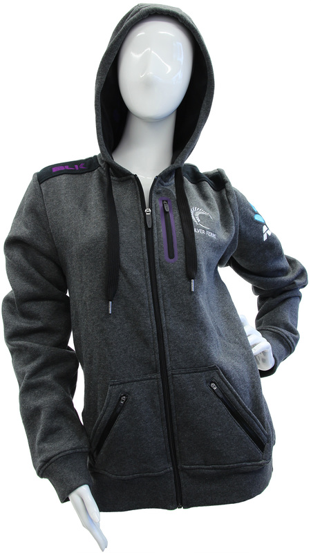 Silver Ferns Ladies Hoodie 2017 - Grey (Size 12)