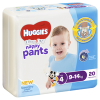 Huggies Ultra Dry Nappy Pants - Size 4 Toddler Boy (20)