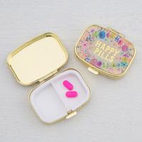Natural Life: Pill Box - Happy Pills Gold