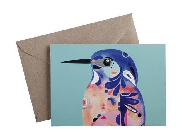 Pete Cromer: Greeting Card - Kingfisher