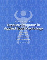 Directory of Graduate Programs in Applied Sport Psychology by Kevin L. Burke image