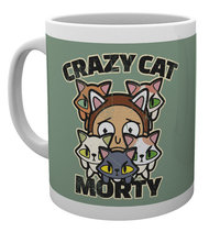 Rick and Morty: Crazy Cat Morty - Mug image