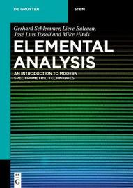 Elemental Analysis by Gerhard Schlemmer