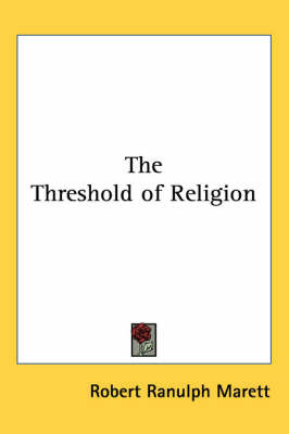 The Threshold of Religion by Robert Ranulph Marett image