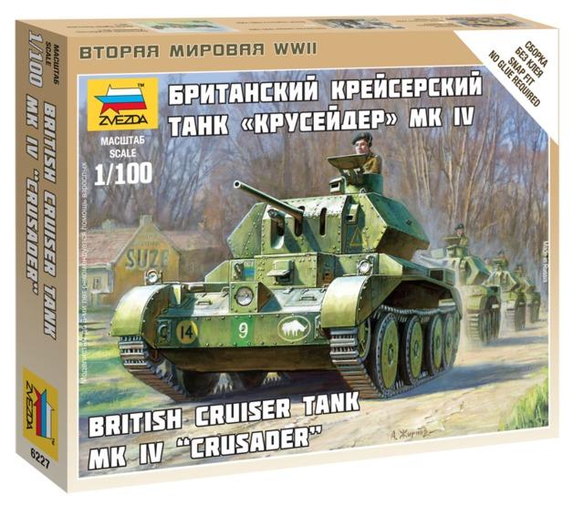 "Zvezda: 1/100 British Cruiser Tank MK IV ""Crusader"" - Model Kit"