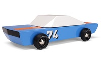 Candylab: Blu 74 Racer - Vintage Wooden Car
