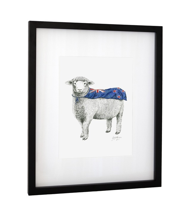 Framed Art Print - 'Super Ewe'