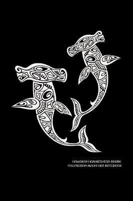 Hawaiian Hammerhead Shark Polynesian Maori Art Notebook by Delsee Notebooks