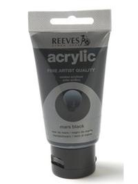 200ml Reeves Fine Acrylic - Mars Black