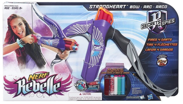 Nerf: Rebelle - Strongheart Bow Blaster Purple
