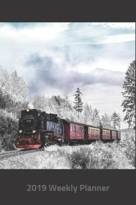 Plan on It 2019 Weekly Calendar Planner - Choo Choo Locomotive Train in the Winter by Nine Forty Publishing