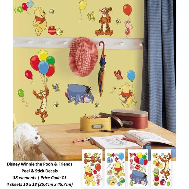 Room Mates: Winnie the Pooh Pooh & Friends Peel & Stick Wall Decal